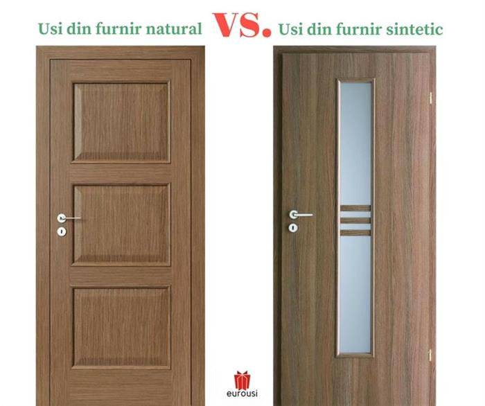 Usi din furnir natural vs. usi din furnir sintetic